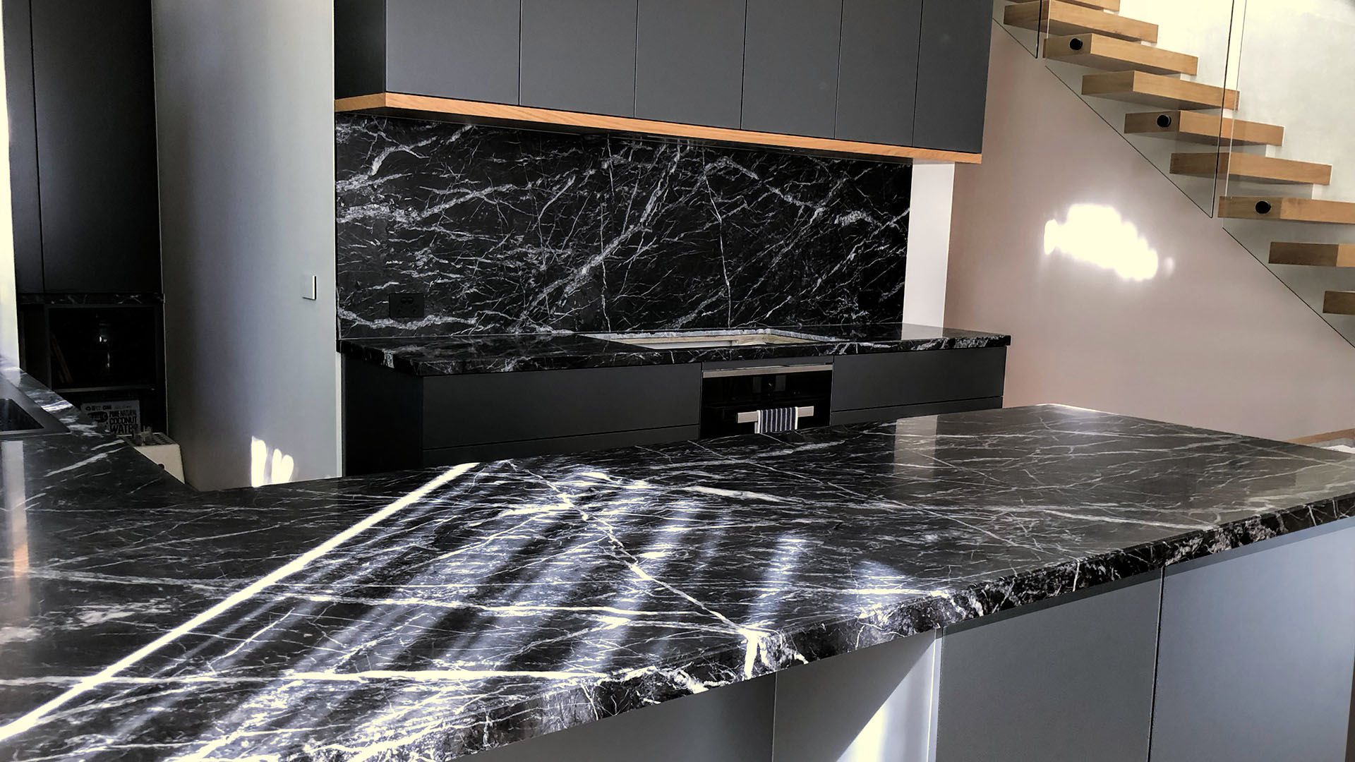 coated marble kitchen