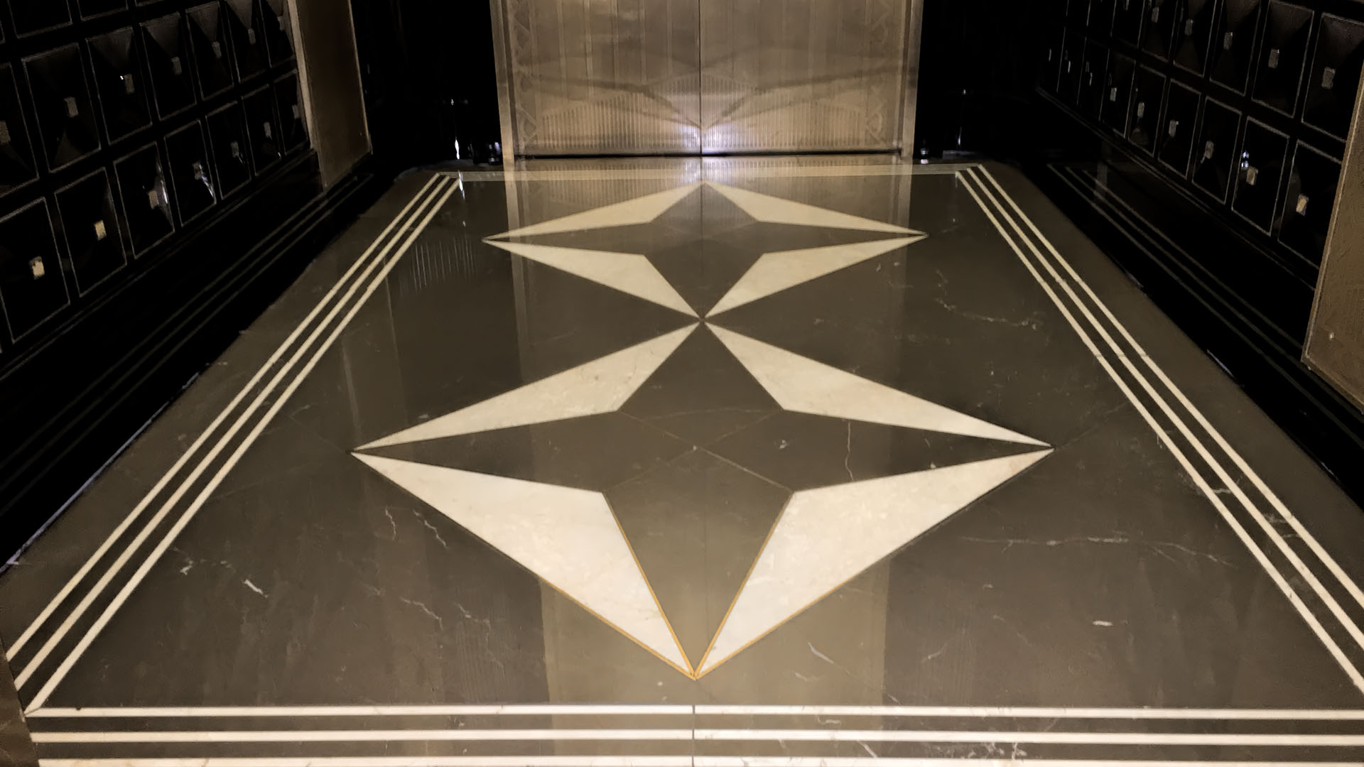 polished marble floor entry